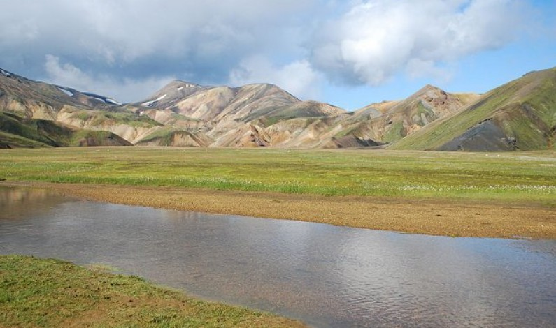 Landmannalaugar area as seen from hiking trail, Iceland