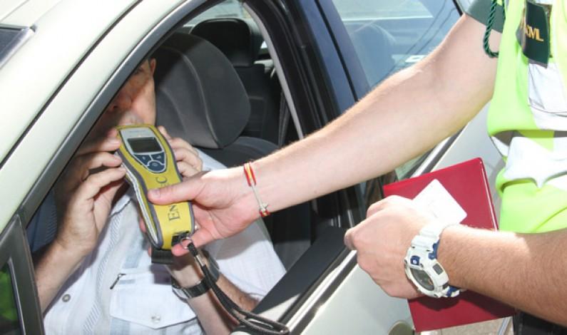 La Guardia Civil realiza 620 pruebas de alcoholemia y 16 de drogas durante el pasado fin de semana
