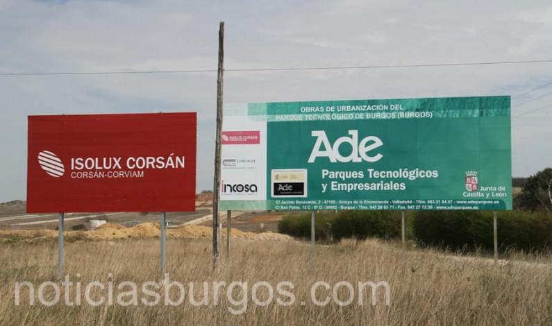 Las obras sobre el Parque Tecnológico de Burgos se retomarán en febrero