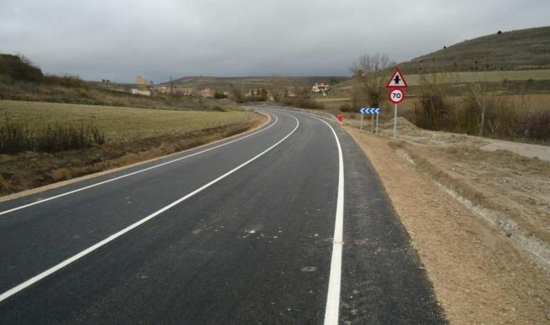 La BU-627 permanecerá cortada entre Villadiego y Olmos de la Picaza y se reabrirá en el tramo de Pedrosa