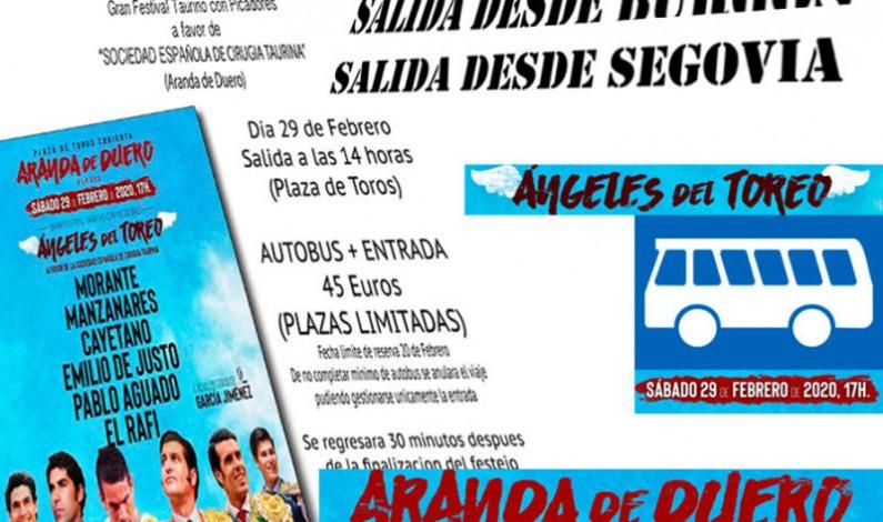Fletan autobuses para el festival homenaje a los cirujanos taurinos #ÁngelesDelToreo