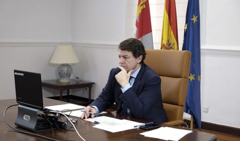 Mañueco reclama al gobierno un nuevo fondo para mantener las medidas frente a la covid en educación