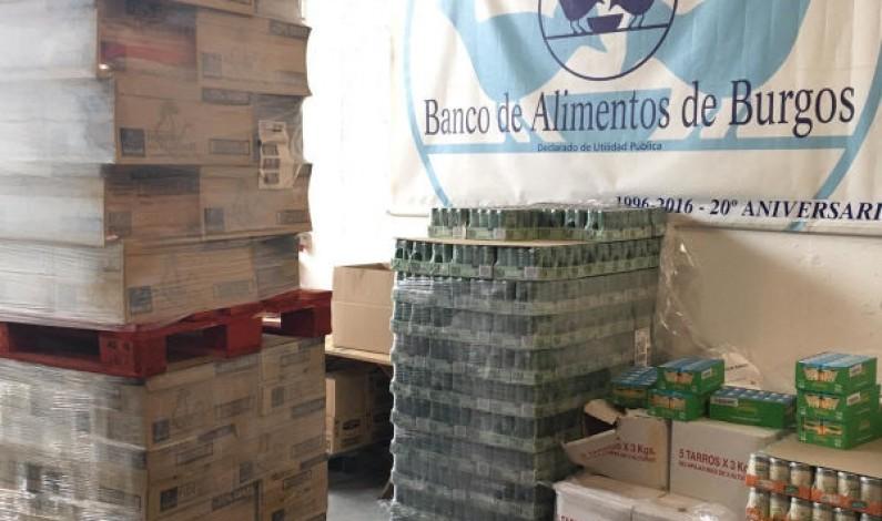 El Banco de Alimentos de Burgos recibe 10 toneladas de alimentos