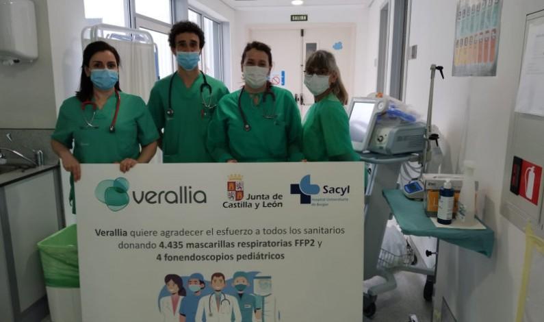 Verallia dona mascarillas y fonendoscopios al Hospital de Burgos