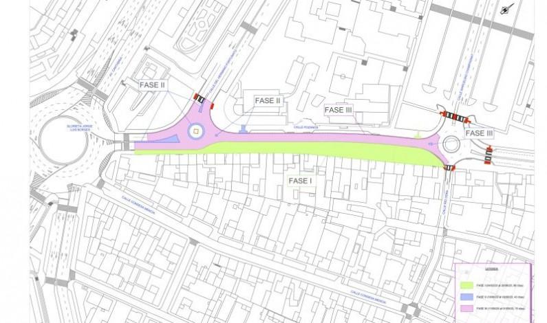 El Ayuntamiento cortará el tráfico desde el 13 de mayo al 4 de noviembre de 2020 por las obras de la calle Pozanos y desviará el trayecto de los autobuses urbanos