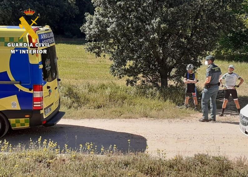 La Guardia Civil localiza y auxilia a un ciclista accidentado cerca de la ermita de San Olav