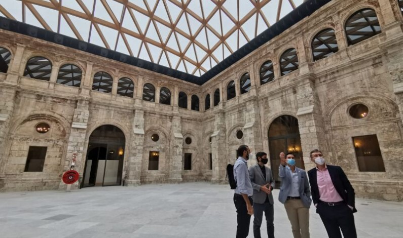 El alcalde de Burgos presenta la rehabilitación parcial del Monasterio de San Juan