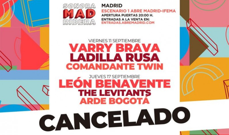 Cancelado el SonoraMAD Ribera