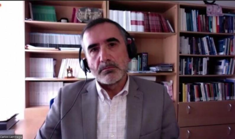 Carlos Larrinaga: «Estamos a favor del voto electrónico, sin embargo, creemos que no hay suficiente información sobre la forma de ejercer dicho voto»
