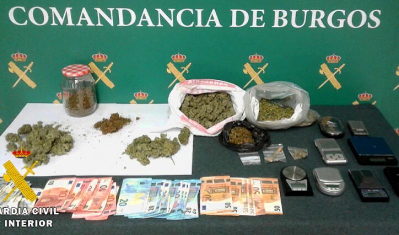 La Guardia Civil esclarece unos graves desórdenes públicos y desmantela un punto de venta y consumo de droga en La Bureba