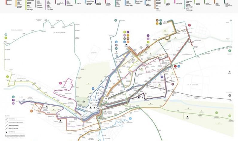 El Ayuntamiento de Burgos buzoneará el nuevo mapa de líneas de autobuses desde el próximo lunes