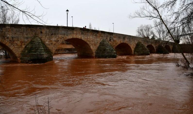 El Arlanza inunda la vega  de la comarca