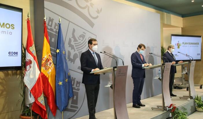 Junta y CEOE suscriben un acuerdo para la puesta en marcha del Plan Sumamos Salud+Economía que incrementará la realización de test masivos en empresas