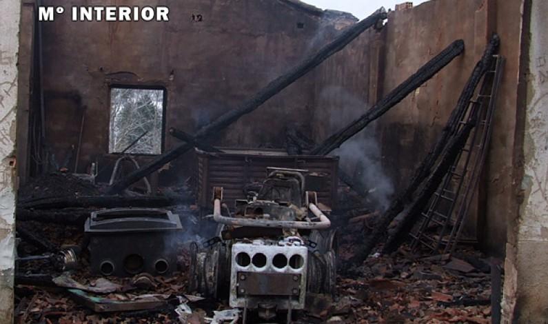 La Guardia Civil investiga a dos menores como los autores del incendio de Cantabrana