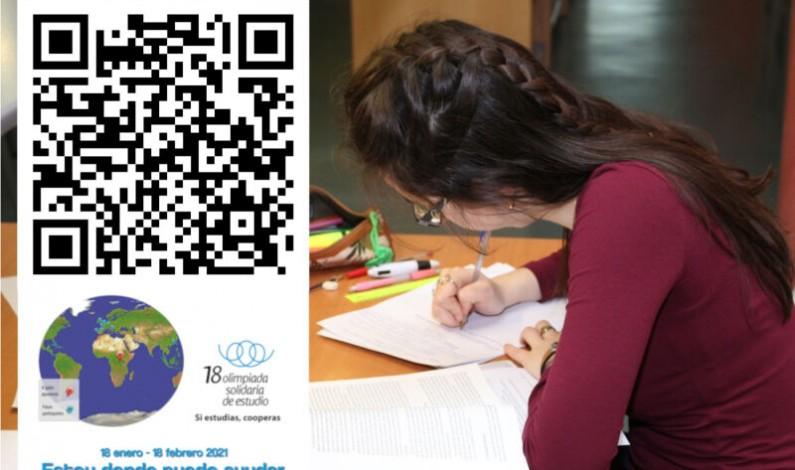 Del 18 de enero al 18 de febrero los estudiantes podrán donar sus horas de estudio en la 18ª Olimpiada Solidaria de Estudio