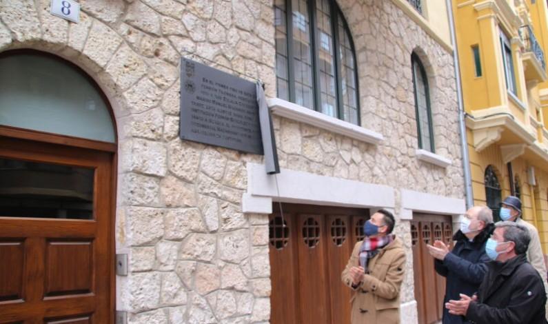 Una placa recuerda la estancia de Eulalia Cáceres y Manuel Machado en Burgos