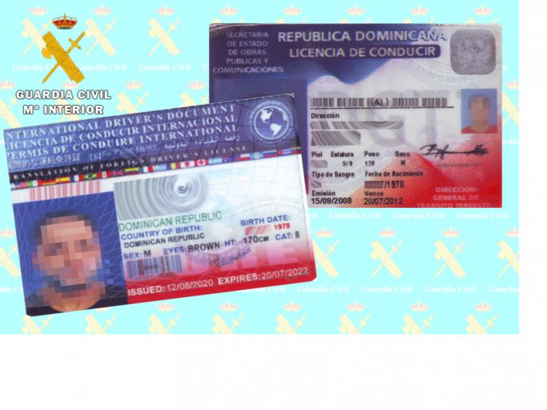 La Guardia Civil investiga a un conductor por presentar sendas autorizaciones falsificadas