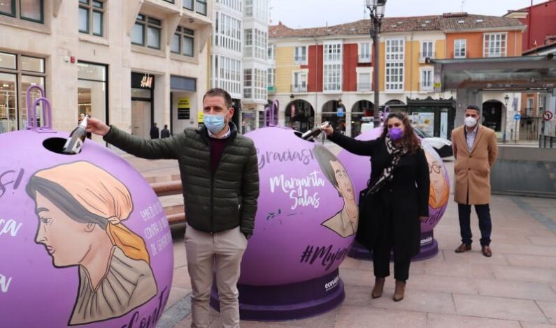 Presentación de la Campaña solidaria de reciclado «Mujeres con eco» en Burgos