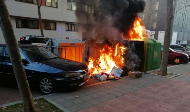 Detenido nuevamente el presunto autor de varios incendios de contenedores en la ciudad de Burgos