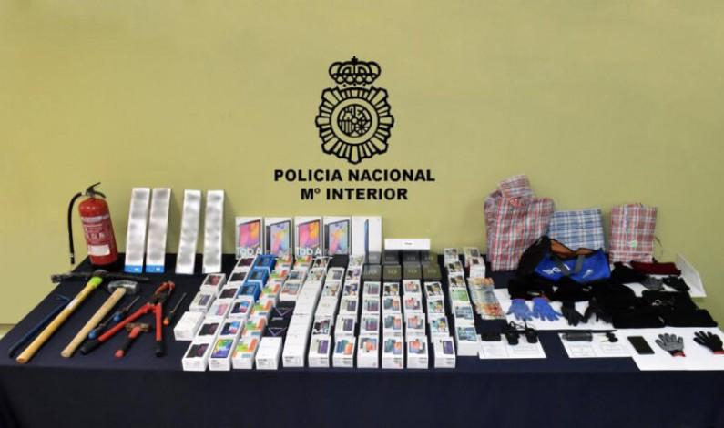 La Policía Nacional de Burgos logra esclarecer otros nueve hechos delictivos y dos robos de vehículos de la banda de aluniceros