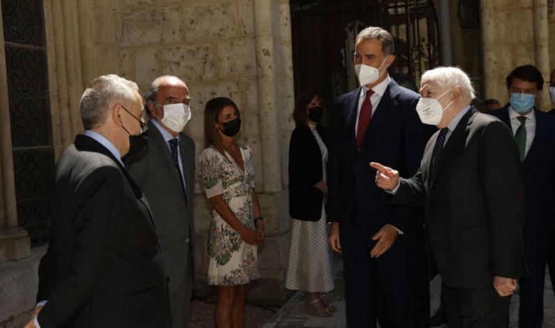 La Fundación VIII Centenario de la Catedral. Burgos 2021 recibe al Rey Felipe VI