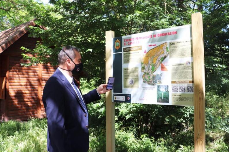 Burgos estrena circuito de orientación permanente en el parque del Castillo