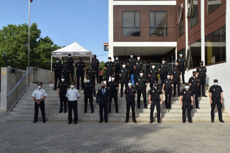 La Comisaría Provincial de Burgos recibe a 22 agentes en prácticas de la XXXVI Promoción de la Escala Básica de la Policía Nacional