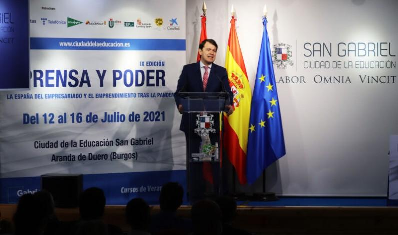 Mañueco exige criterios de reparto justos para los Fondos Europeos