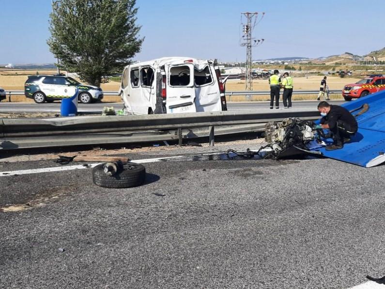 Un accidente en Burgos deja dos fallecidos y dos heridos