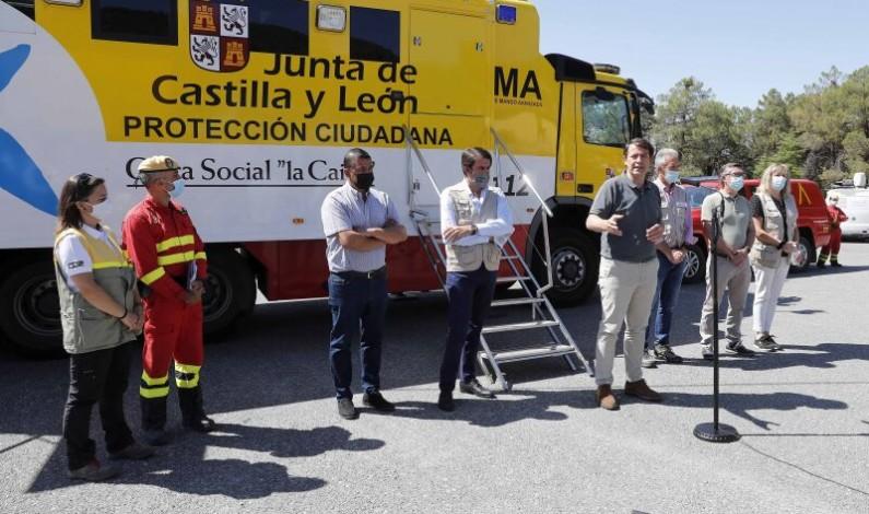 El Gobierno de Castilla y León anuncia actuaciones inmediatas para ayudar a los afectados por el incendio de Navalacruz