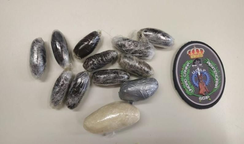 Detectados más de 100 gramos de drogas en el cuerpo de un familiar de un interno de Burgos