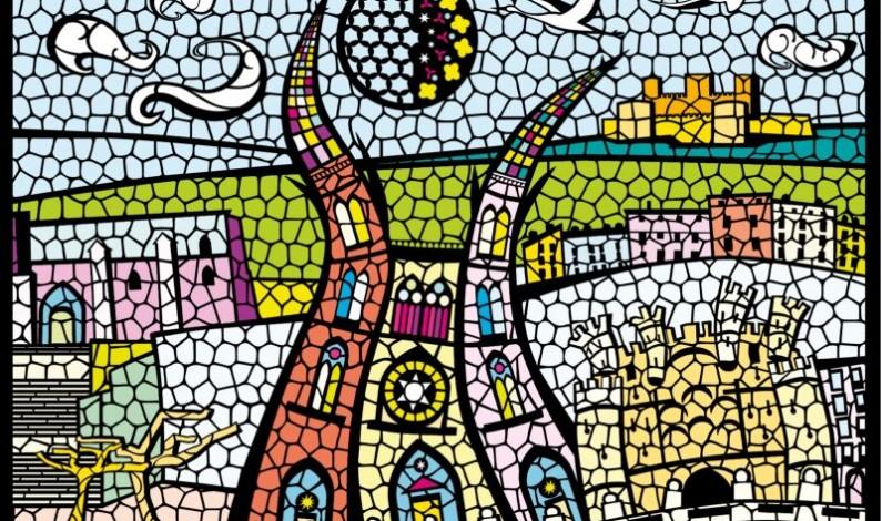 2.000 niños y niñas realizan «Catedral de luz», una obra artística mural colectiva inspirada en la técnica de la vidriera
