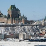 Quebec City and the Chateau Frontenac, view from Levis, Canada