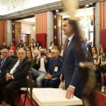 Daniel de la Rosa en la toma de posesión como alcalde de Burgos