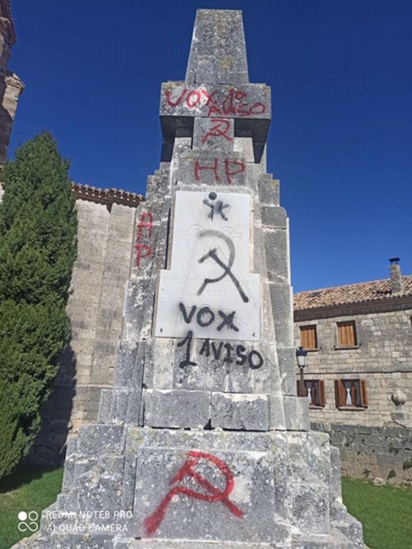 Amenazas a Vox en Sasamón
