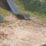 Desperfectos en parques y bancos de la zona sur