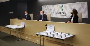 José Antonio Antón, Tomás Fisac y Rosalía Santaolalla