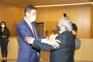 Ángel Ibáñez con Roberto Da Silva