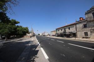 Actual estado de la carretera que atraviesa Ibeas de Juarros